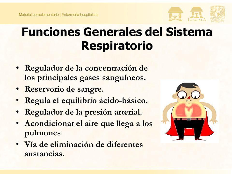 Funciones Generales del Sistema Respiratorio