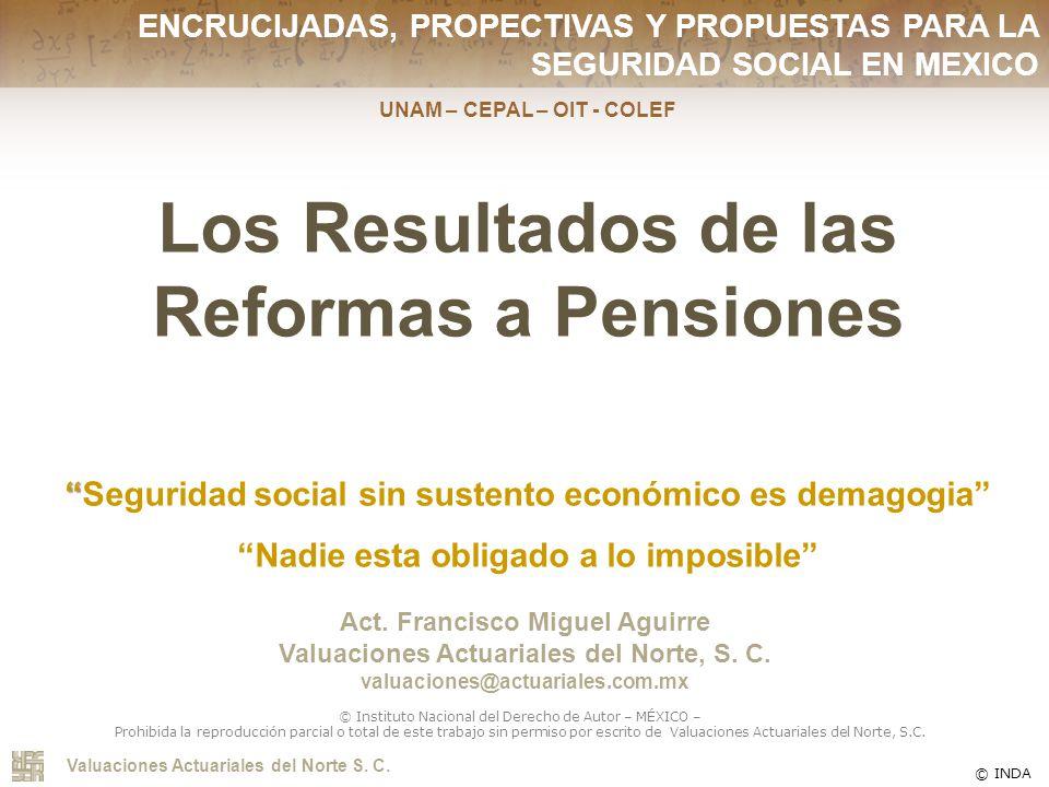 Los Resultados de las Reformas a Pensiones