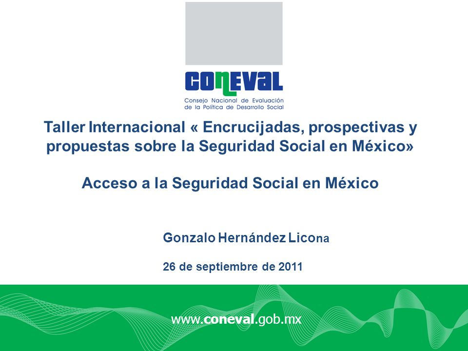 Acceso a la Seguridad Social en México