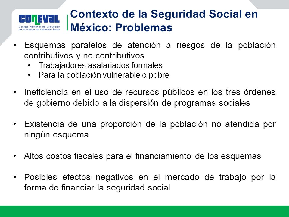 Contexto de la Seguridad Social en México: Problemas