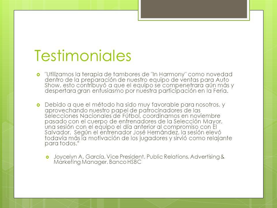 Testimoniales
