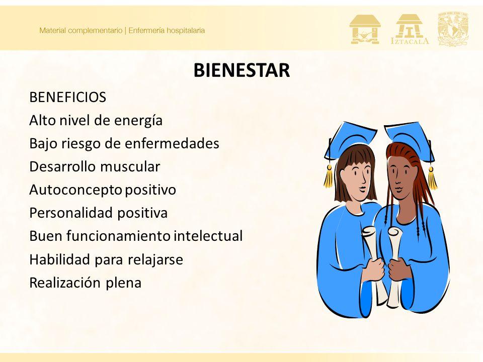 BIENESTAR BENEFICIOS Alto nivel de energía Bajo riesgo de enfermedades