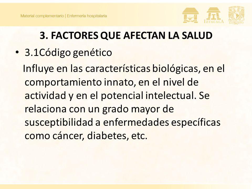 3. FACTORES QUE AFECTAN LA SALUD