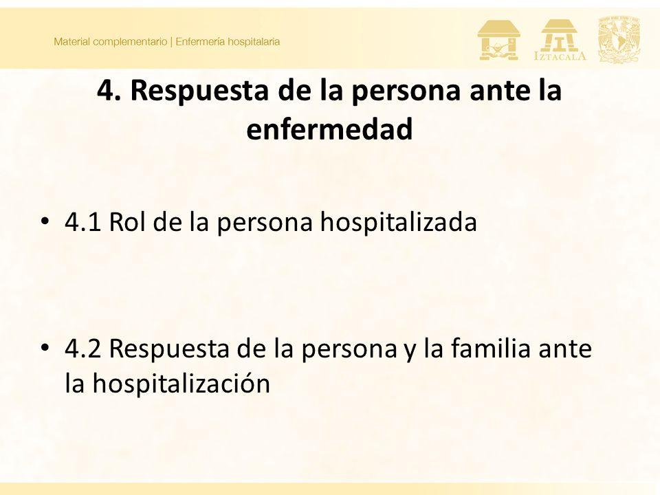 4. Respuesta de la persona ante la enfermedad