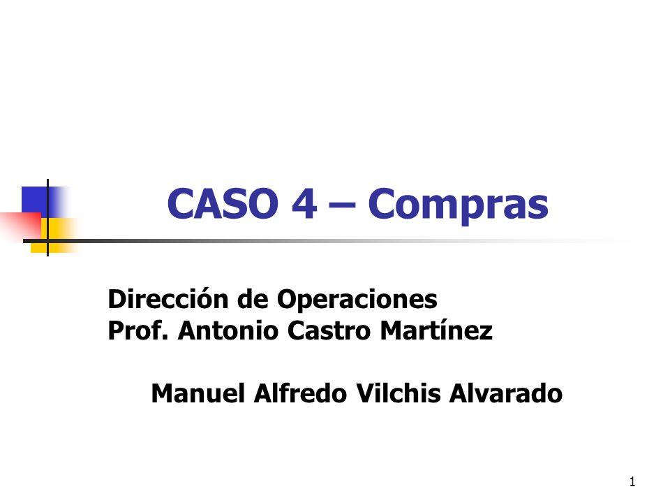 CASO 4 – Compras Dirección de Operaciones