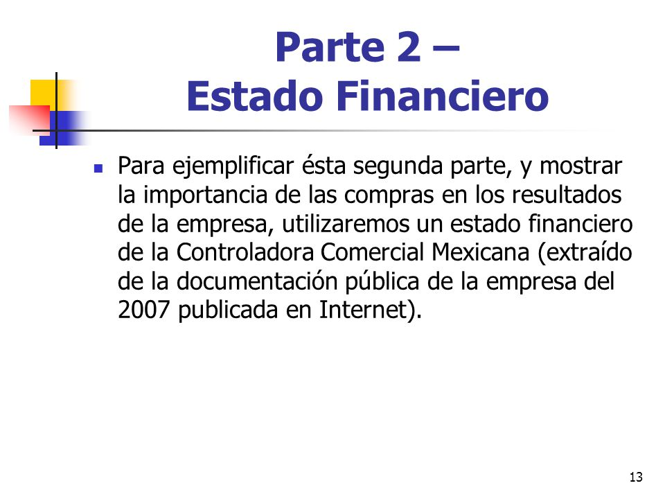 Parte 2 – Estado Financiero