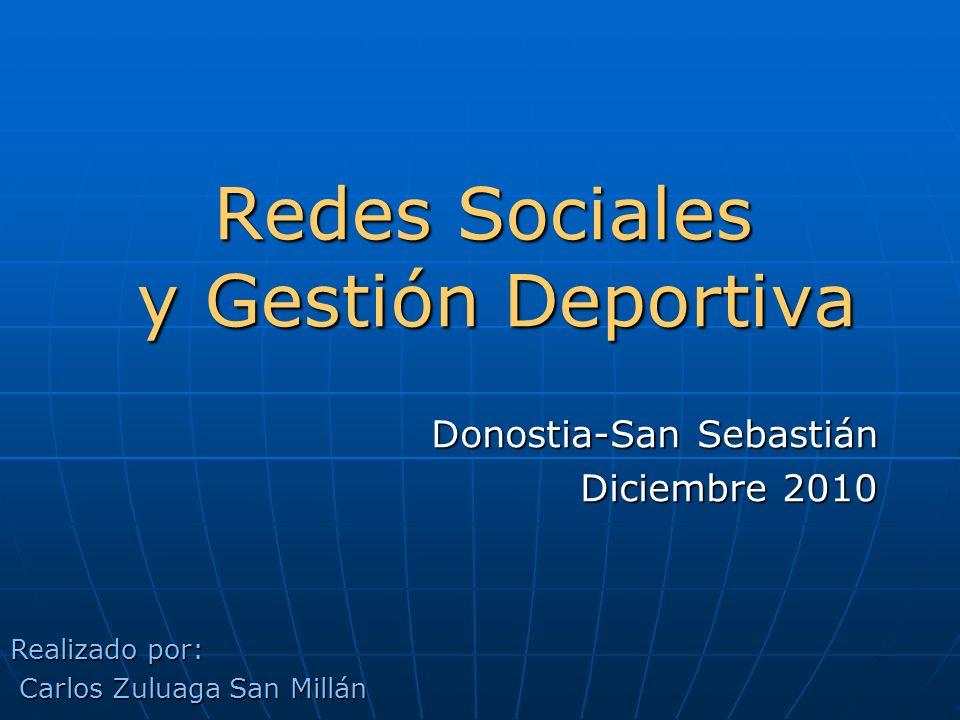 Redes Sociales y Gestión Deportiva