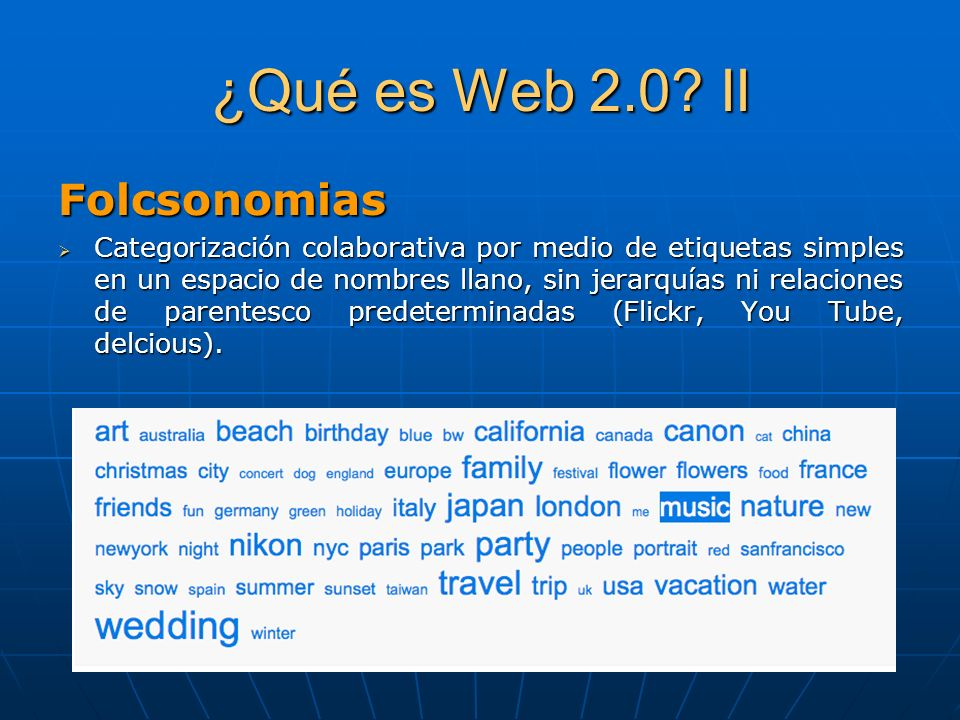 ¿Qué es Web 2.0 II Folcsonomias