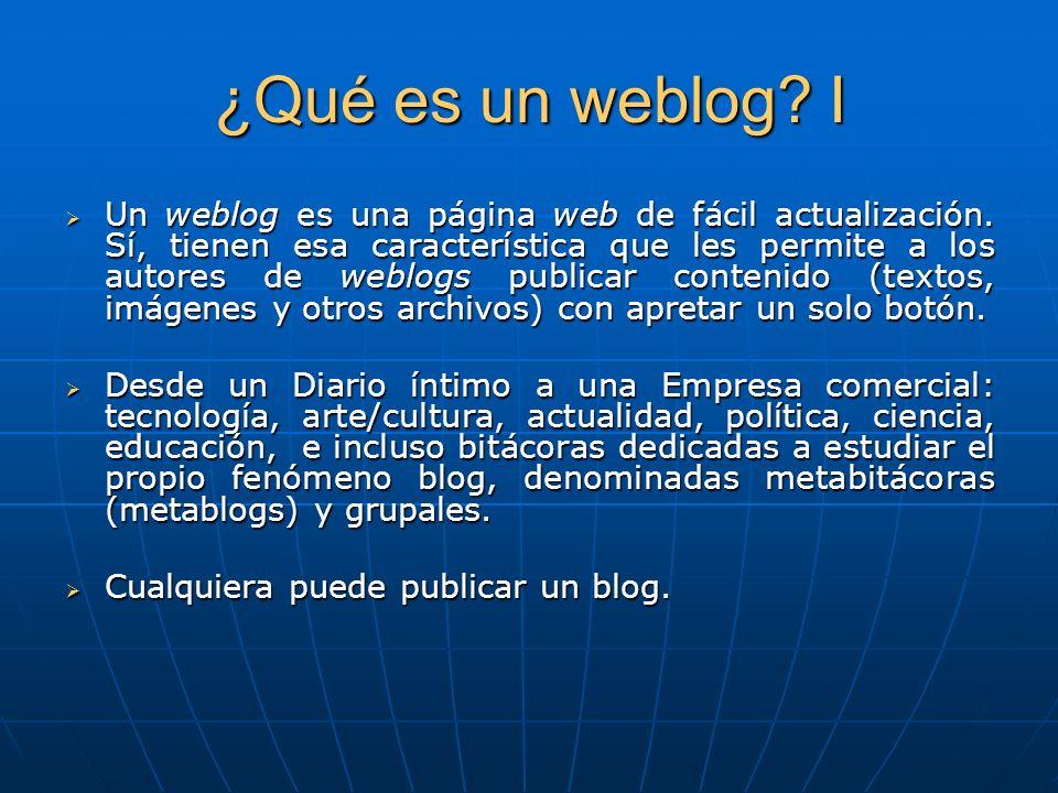 ¿Qué es un weblog I