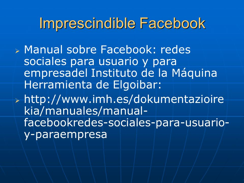 Imprescindible Facebook