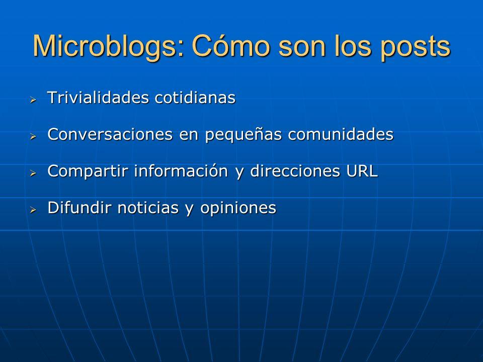 Microblogs: Cómo son los posts