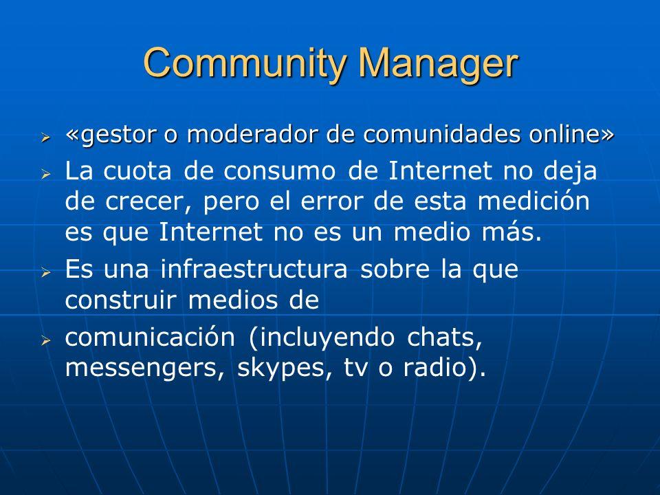 Community Manager«gestor o moderador de comunidades online»