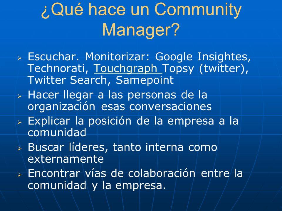 ¿Qué hace un Community Manager