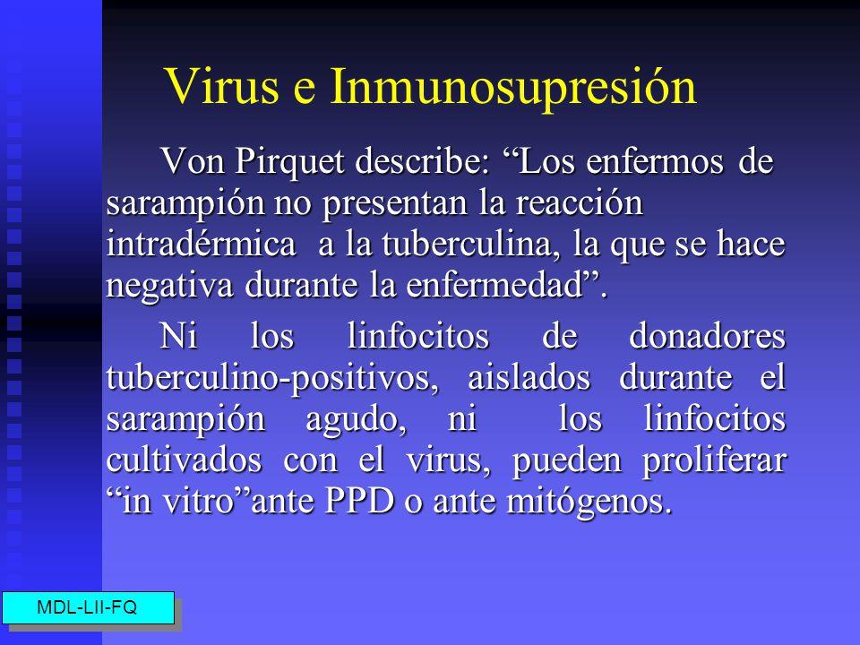 Virus e Inmunosupresión