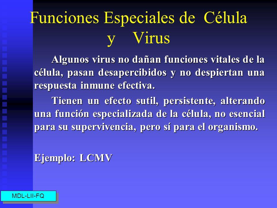 Funciones Especiales de Célula y Virus