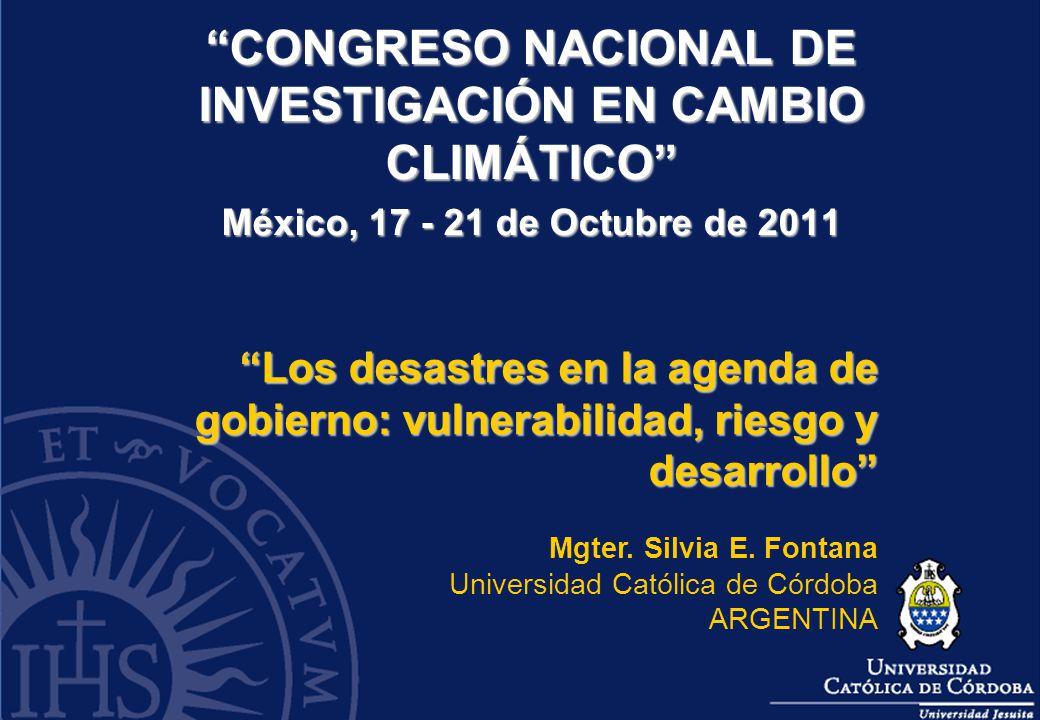 CONGRESO NACIONAL DE INVESTIGACIÓN EN CAMBIO CLIMÁTICO