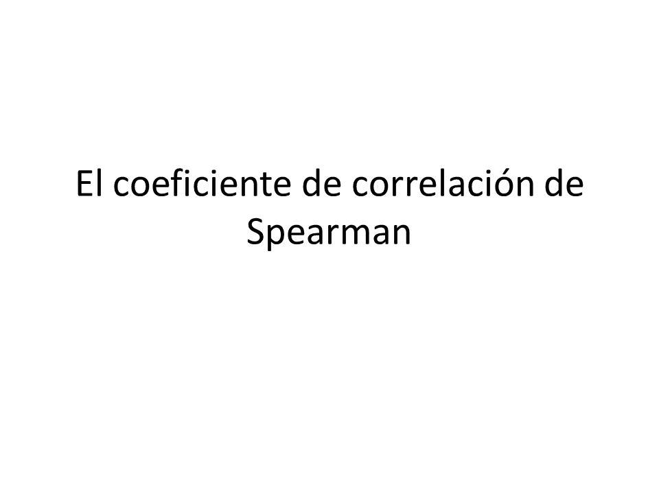 El coeficiente de correlación de Spearman
