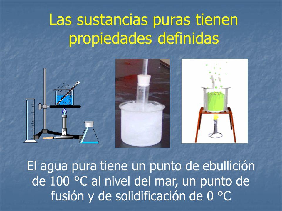 Las sustancias puras tienen propiedades definidas