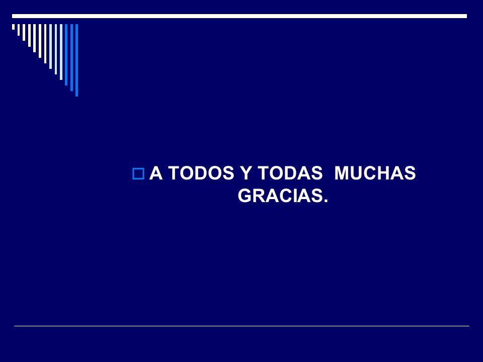 A TODOS Y TODAS MUCHAS GRACIAS.
