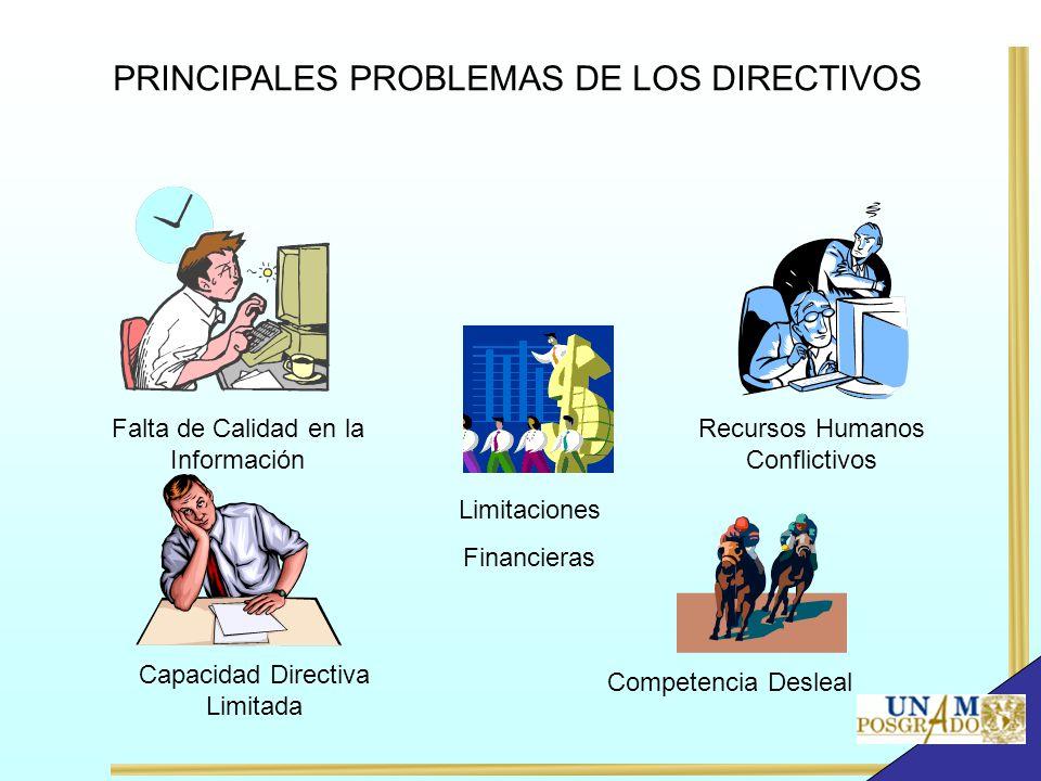 PRINCIPALES PROBLEMAS DE LOS DIRECTIVOS