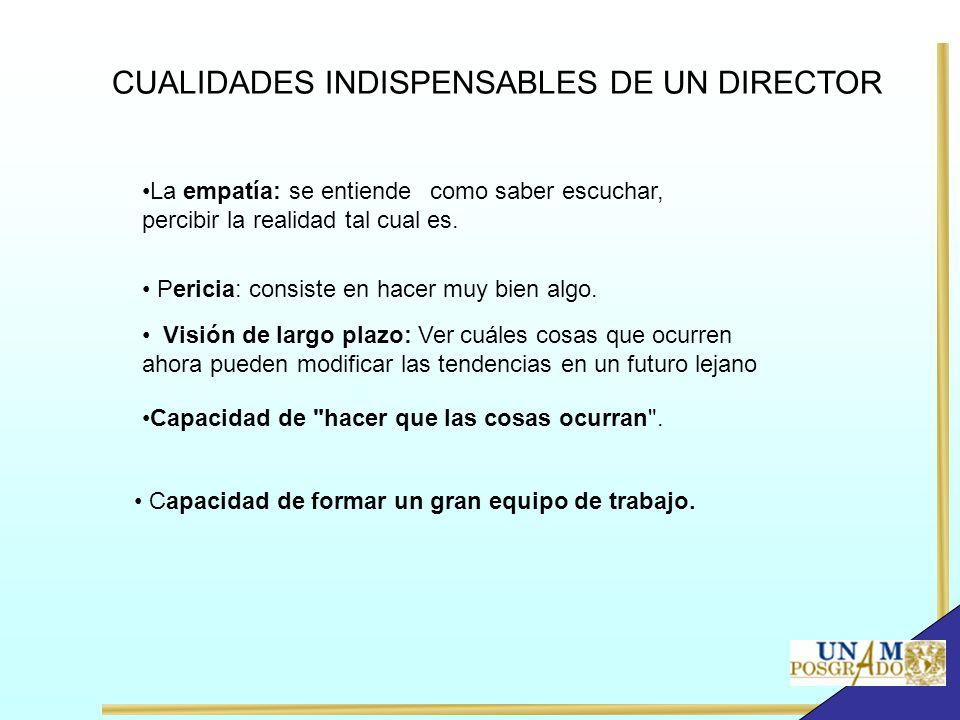 CUALIDADES INDISPENSABLES DE UN DIRECTOR