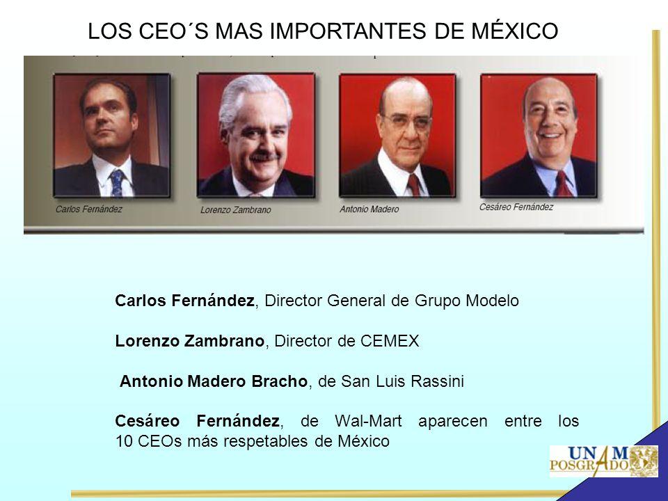 LOS CEO´S MAS IMPORTANTES DE MÉXICO