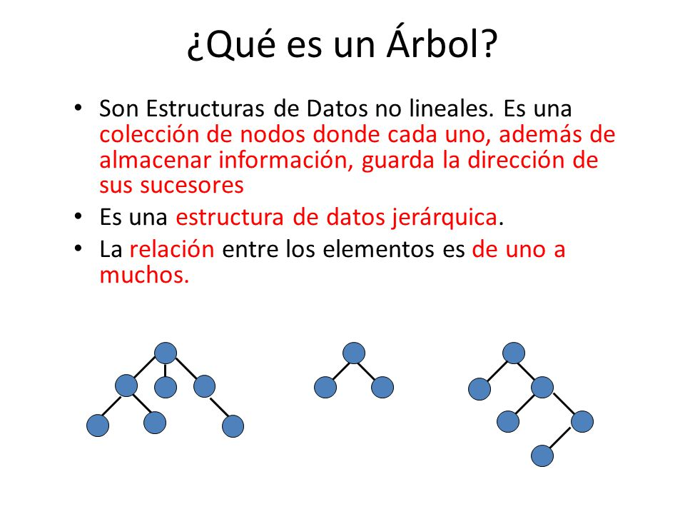 ¿Qué es un Árbol