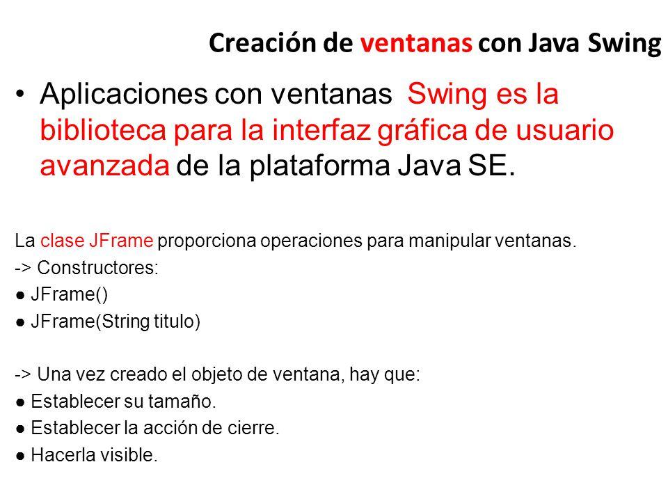 Creación de ventanas con Java Swing