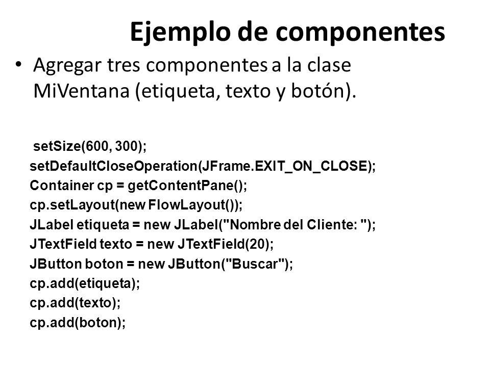 Ejemplo de componentes