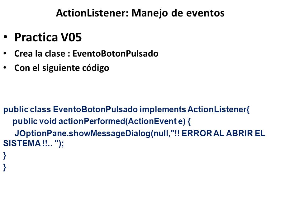 ActionListener: Manejo de eventos