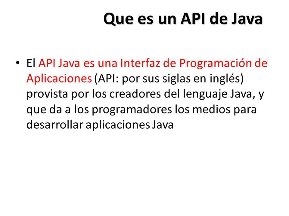 Que es un API de Java