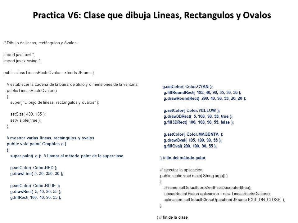 Practica V6: Clase que dibuja Lineas, Rectangulos y Ovalos