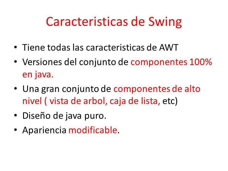 Caracteristicas de Swing