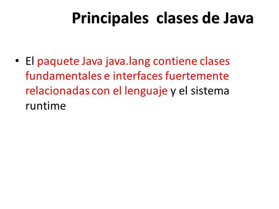 Principales clases de Java