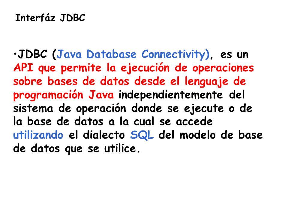 Interfáz JDBC