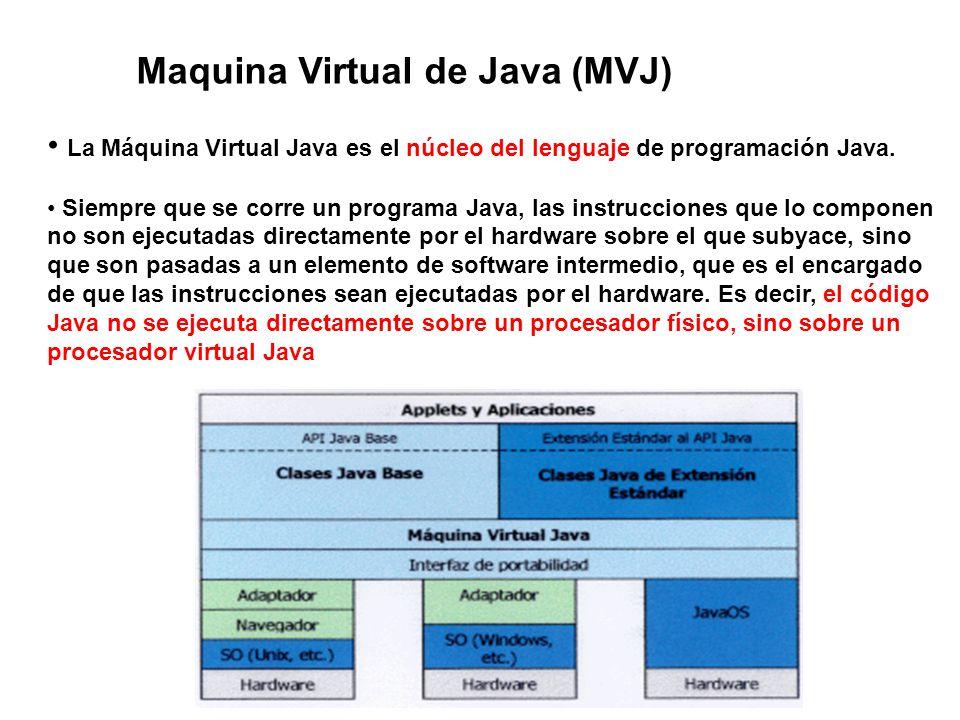 Maquina Virtual de Java (MVJ)