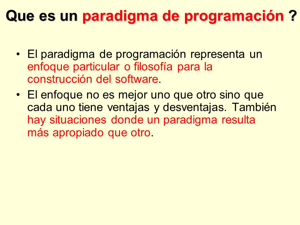 Que es un paradigma de programación