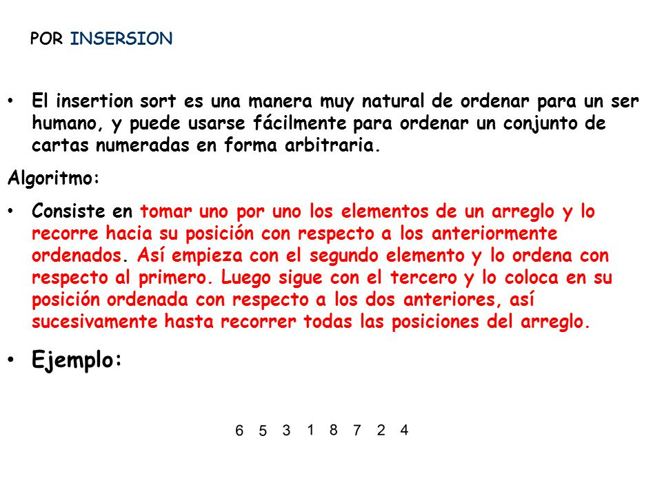 POR INSERSION