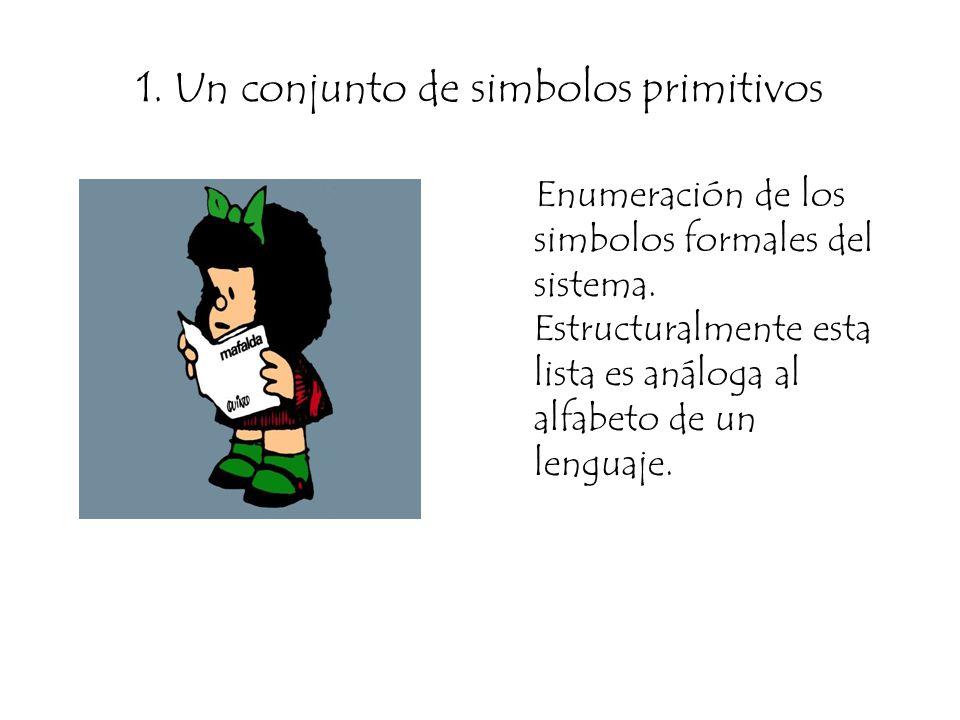 1. Un conjunto de simbolos primitivos