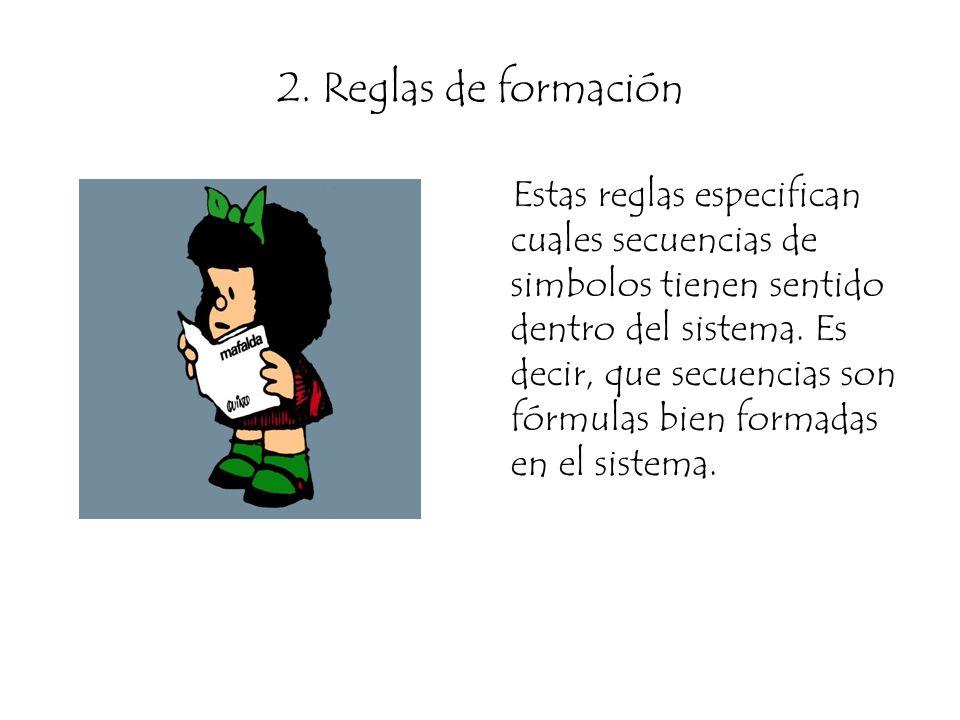 2. Reglas de formación