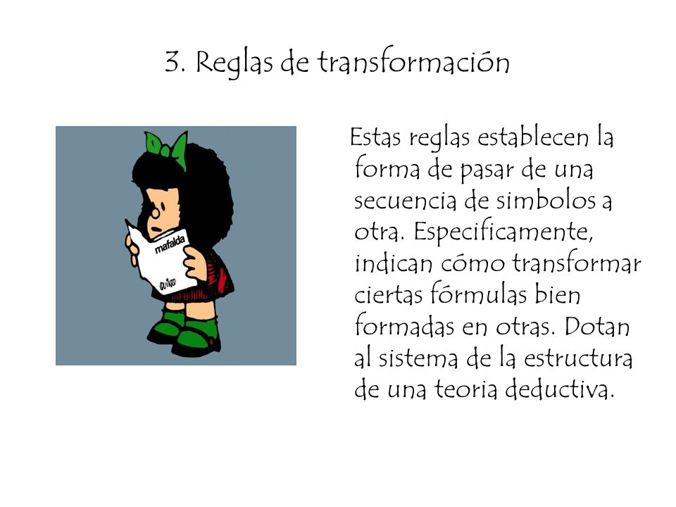 3. Reglas de transformación