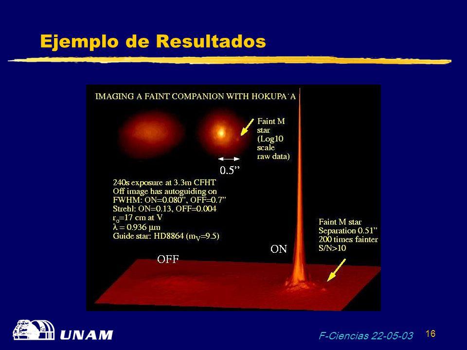 Ejemplo de Resultados F-Ciencias 22-05-03