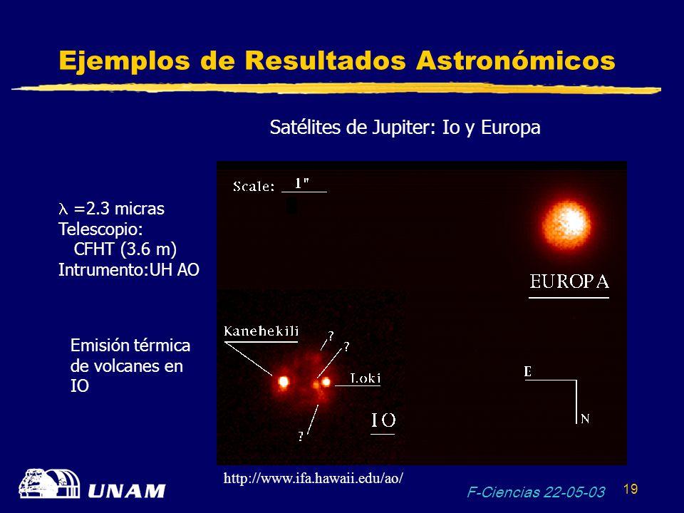 Ejemplos de Resultados Astronómicos