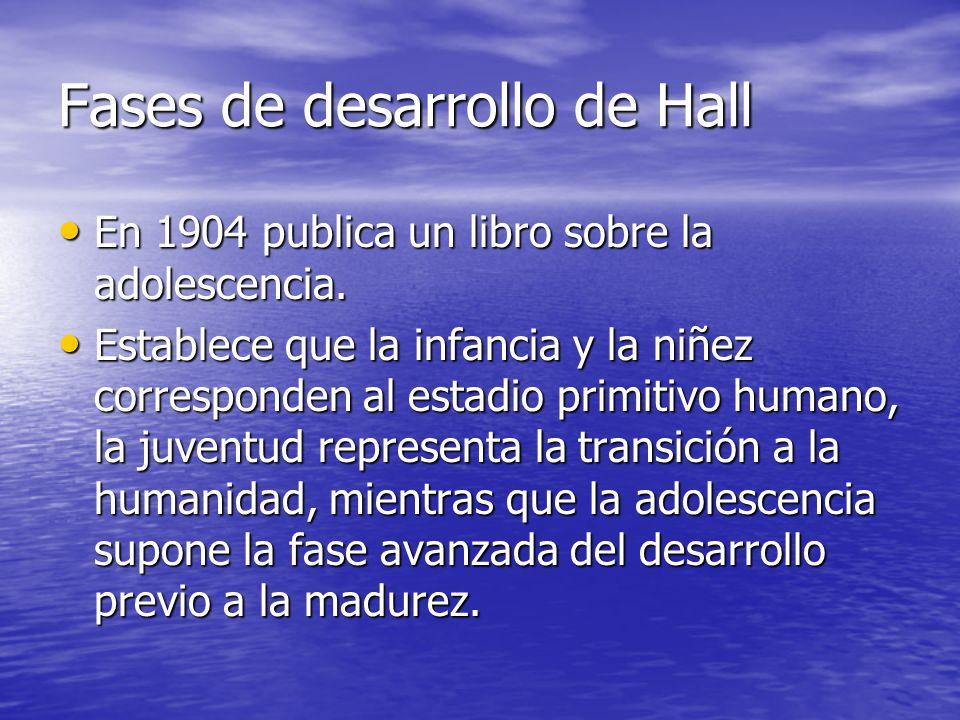 Fases de desarrollo de Hall