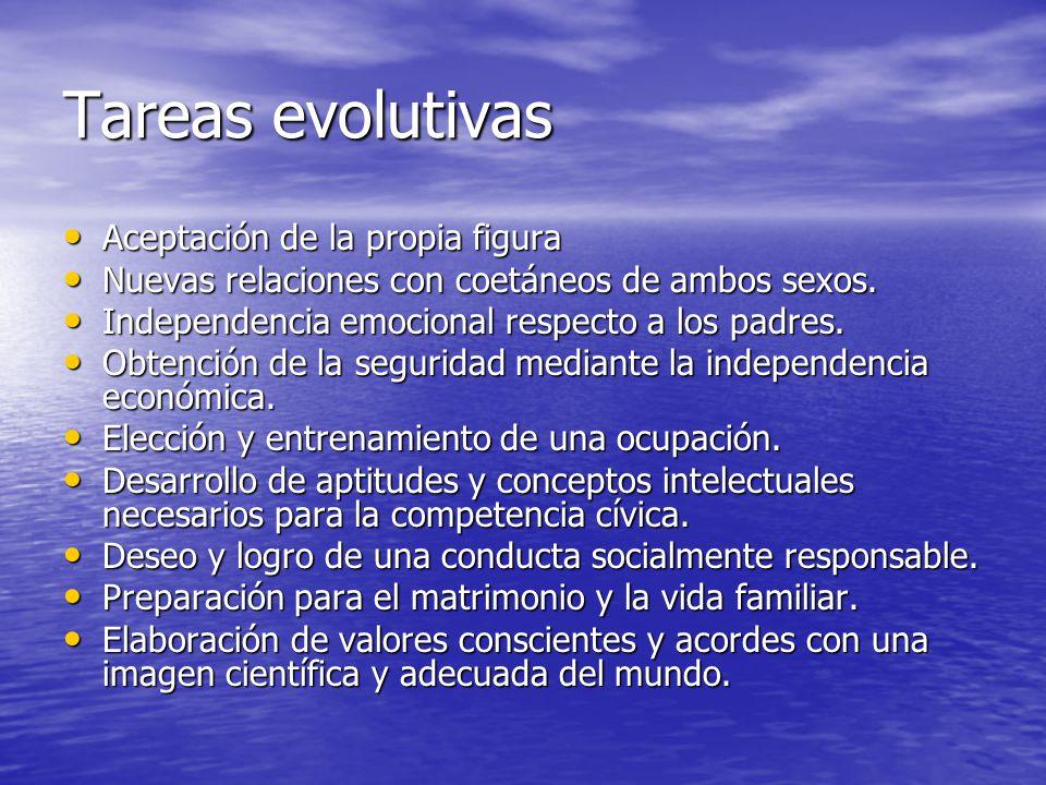 Tareas evolutivas Aceptación de la propia figura