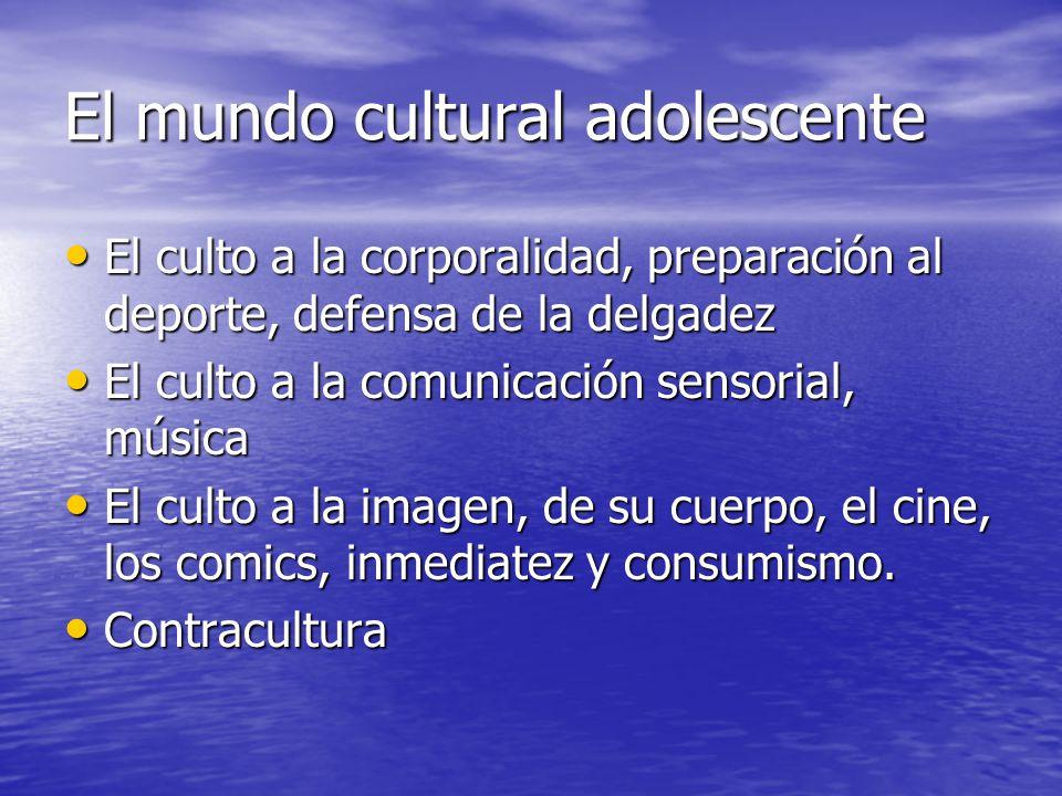 El mundo cultural adolescente