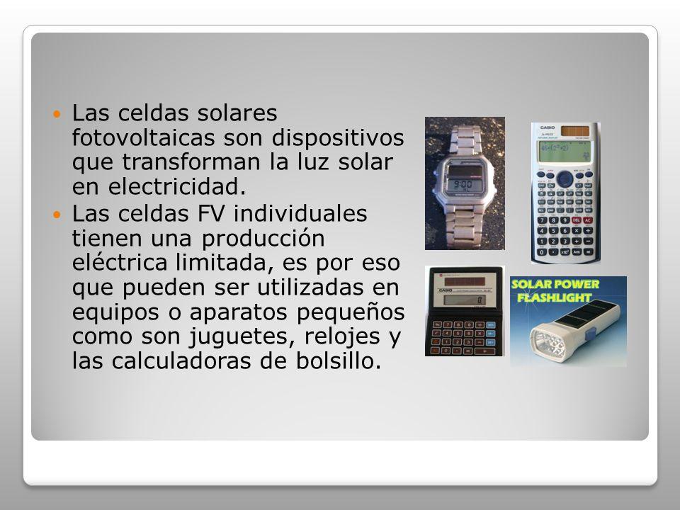 Las celdas solares fotovoltaicas son dispositivos que transforman la luz solar en electricidad.