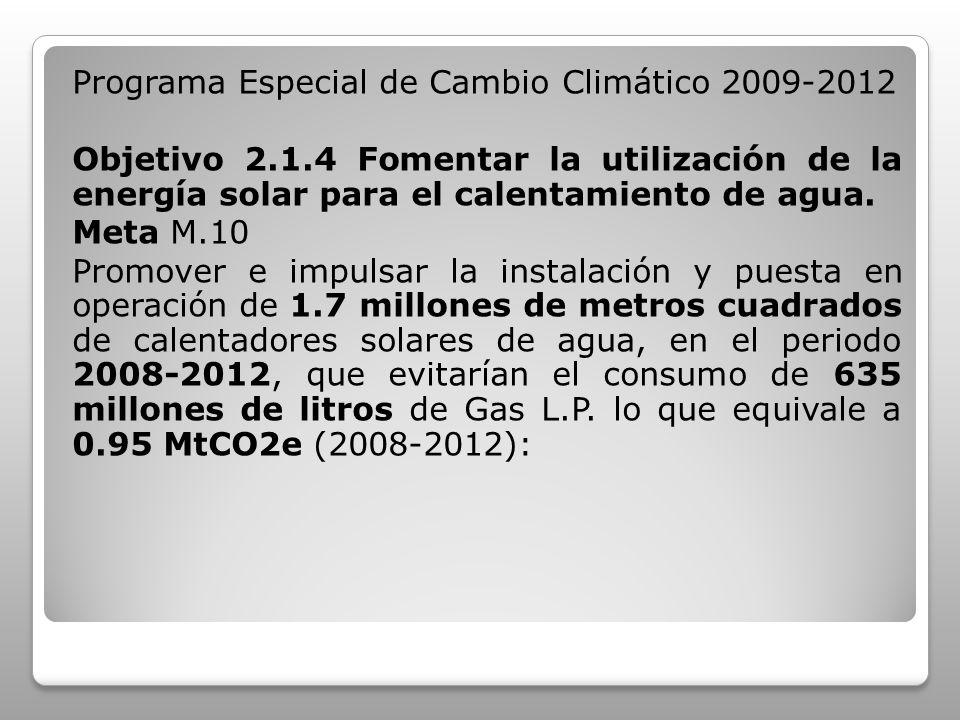 Programa Especial de Cambio Climático 2009-2012 Objetivo 2. 1