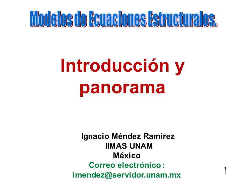 Introducción y panorama Ignacio Méndez Ramírez