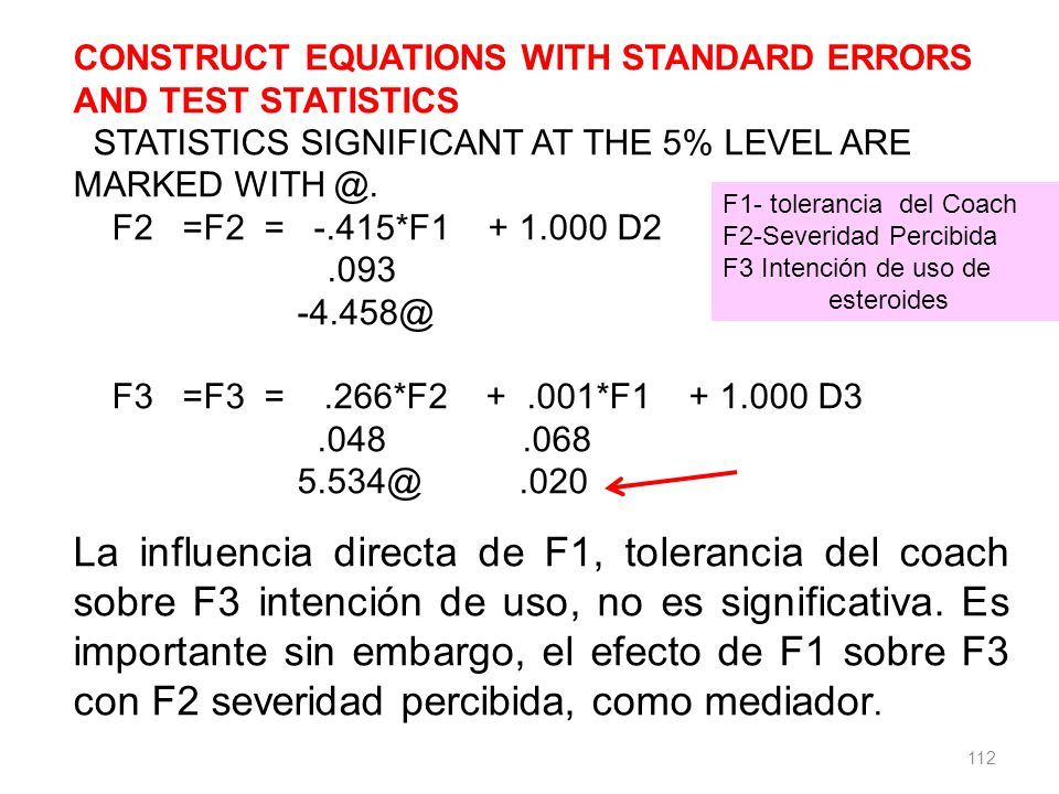 CONSTRUCT EQUATIONS WITH STANDARD ERRORS AND TEST STATISTICS